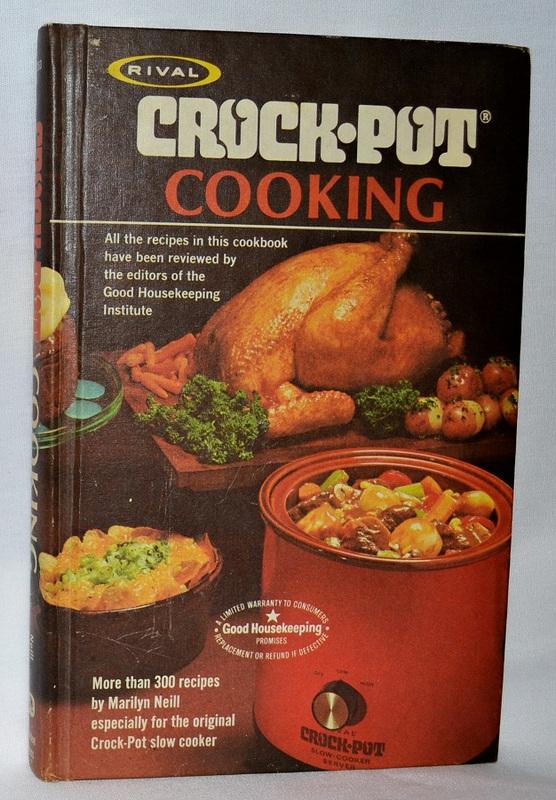 1975 Rival Crock Pot Cooking Vintage Cookbook Apron Free Cooking