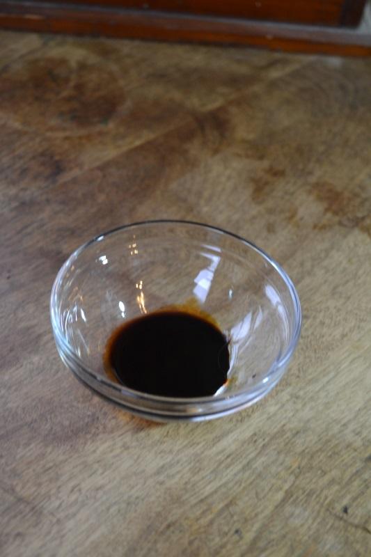 Liquid Smoke in glass bowl